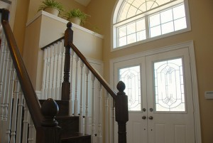 3 Basswood Drive's cathedral foyer