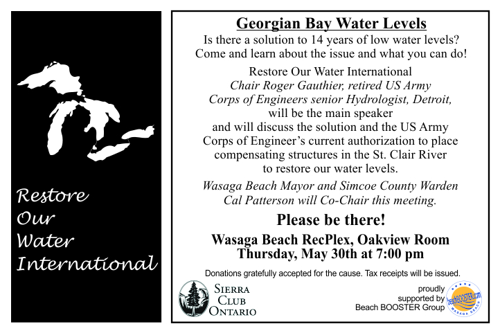 Water levels meeting May 30 2013