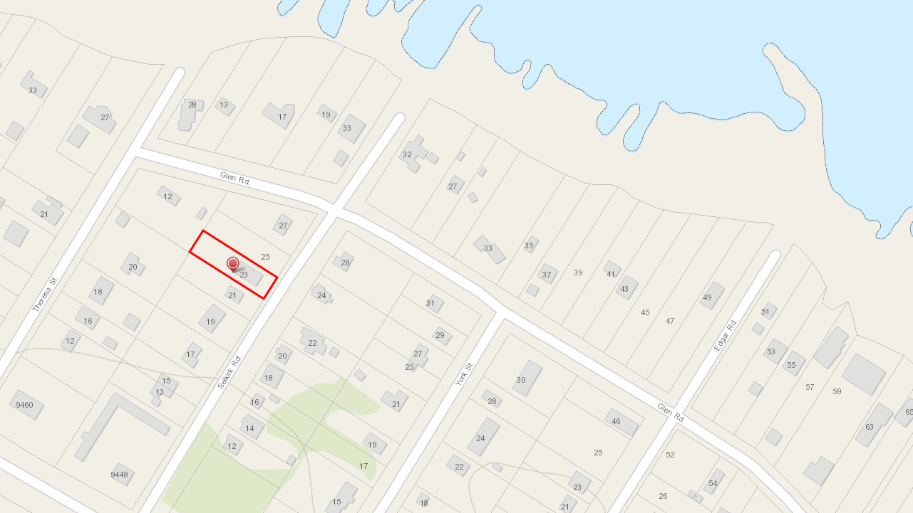 23 Selkirk lot map