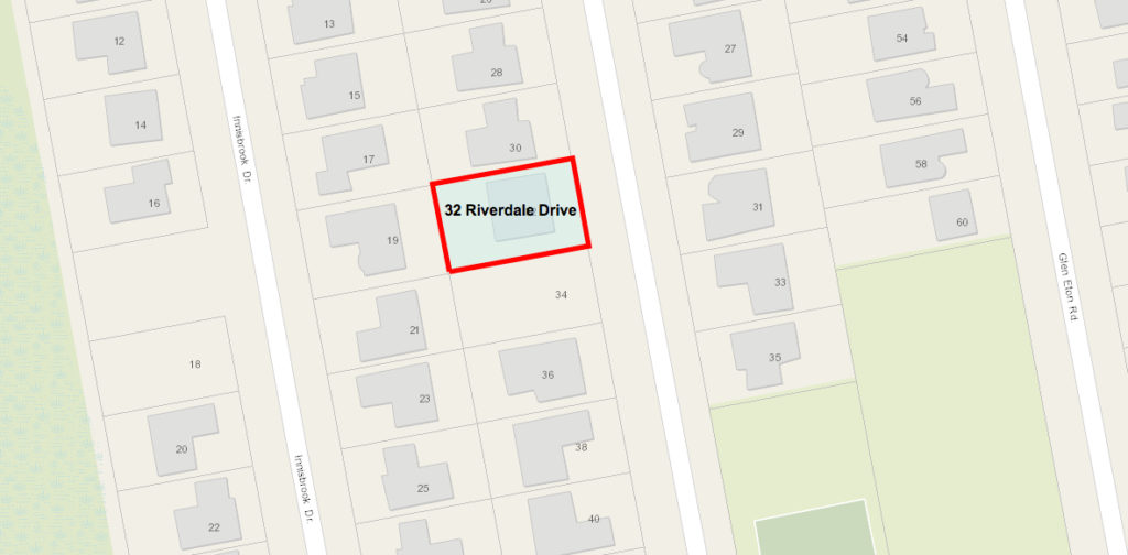 32 Riverdale Drive lot plan